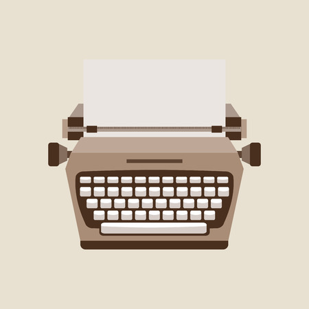 type writer: typewriter machine design, vector illustration eps10 graphic Illustration
