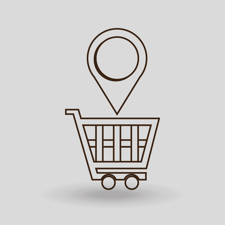 simple store: shopping cart  design, vector illustration eps10 graphic Illustration