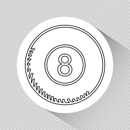 bola ocho: Diseño de la bola ocho, ejemplo gráfico del vector eps10