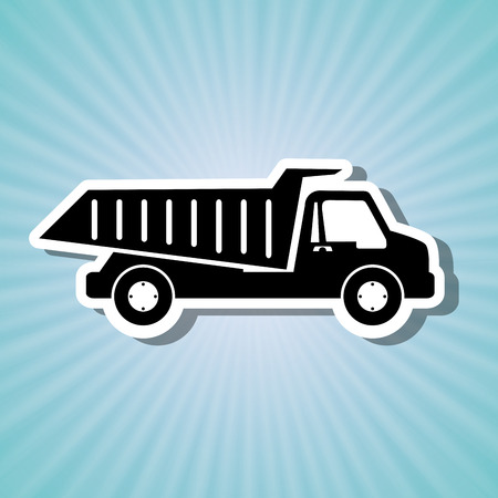 movers: dump truck design, vector illustration eps10 graphic