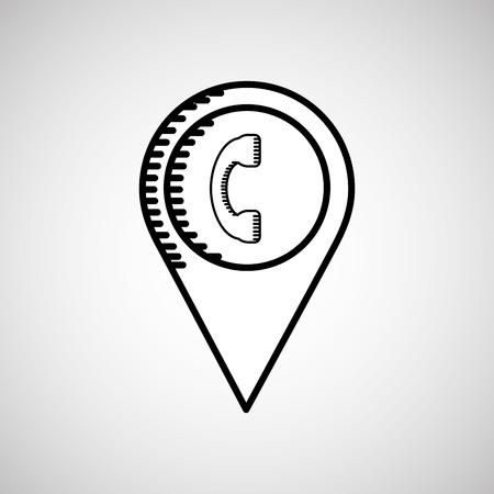telephone location design, vector illustration eps10 graphic