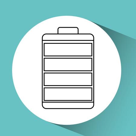 alkaline: battery power design, vector illustration graphic