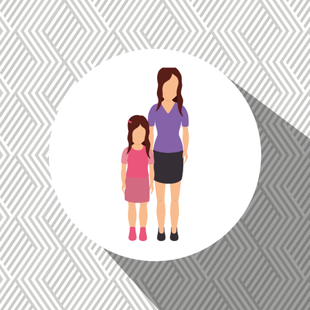 members: family members design, vector illustration graphic