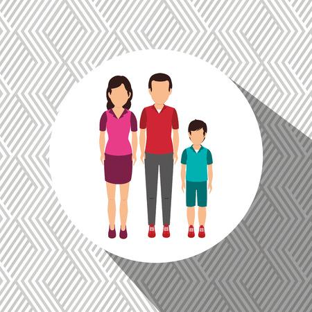 family members: family members design, vector illustration graphic
