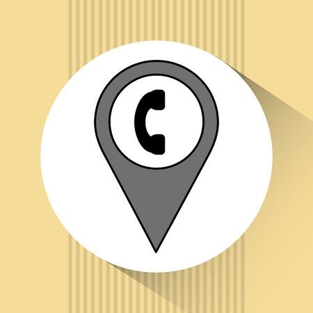 caller: telephone location design, vector illustration eps10 graphic