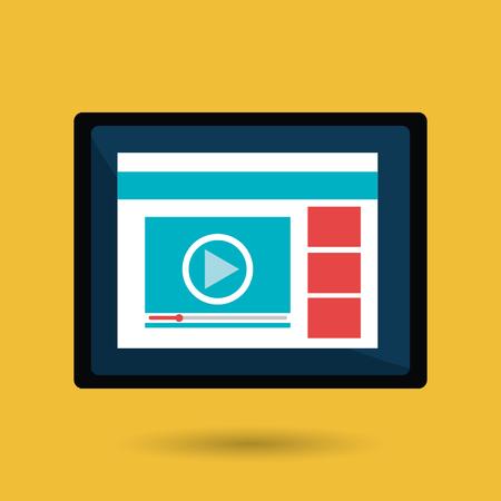 commerce communication: digital marketing design, vector illustration eps10 graphic