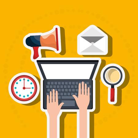 digital marketing: digital marketing design, vector illustration eps10 graphic