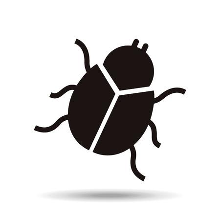 het ontwerp van het insectenpictogram, vector grafische illustratie eps10 Stock Illustratie