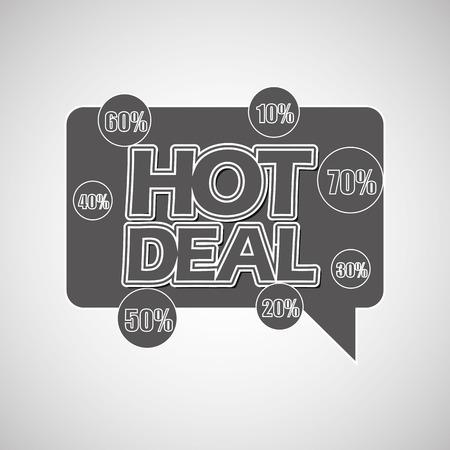 hot deals: hot deals design, vector illustration eps10 graphic Illustration