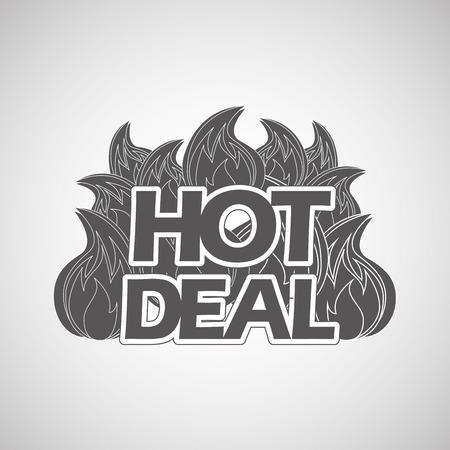 deals: hot deals design, vector illustration eps10 graphic Illustration
