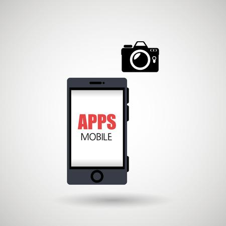 mobile app: app mobile design, vector illustration eps10 graphic