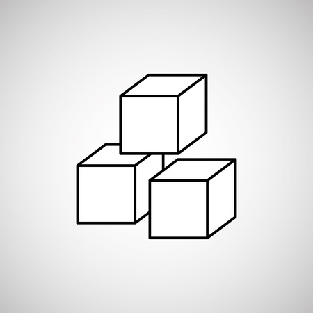 sugar cube: sugar product design, vector illustration eps10 graphic