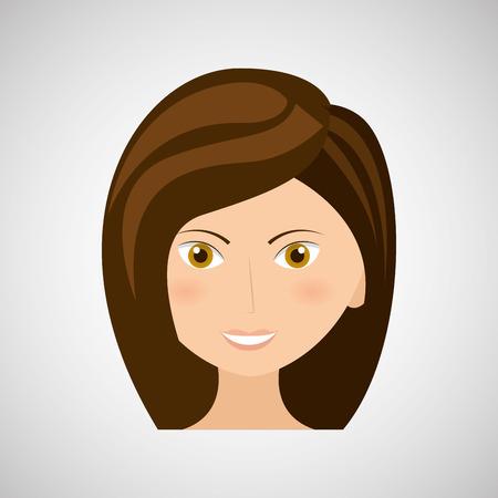 cute graphic: woman avatar design, vector illustration eps10 graphic