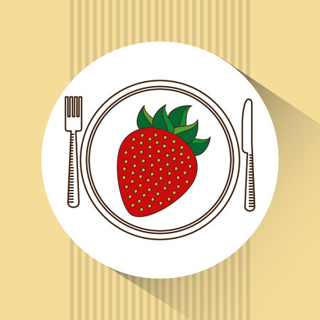 layout strawberry: healthy food design, vector illustration eps10 graphic
