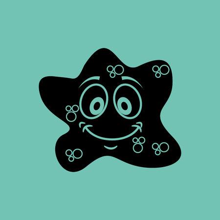 unicellular: virus character design, vector illustration eps10 graphic Illustration