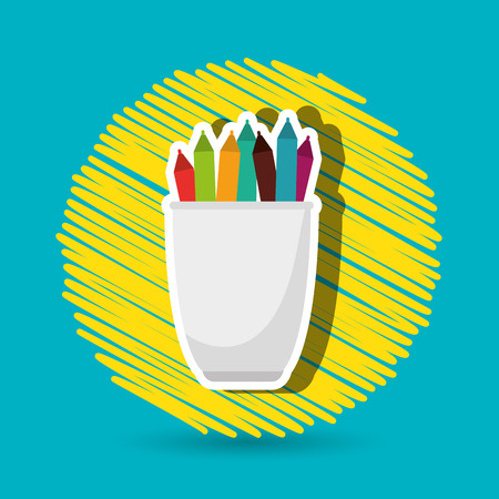 holders: pencil holders design, vector illustration eps10 graphic