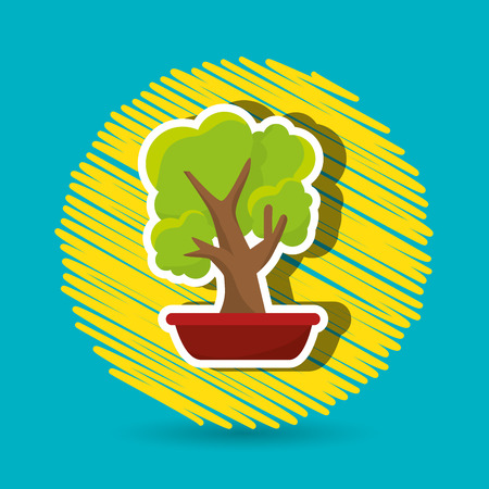 indoor garden: plant office icon design, vector illustration eps10 graphic