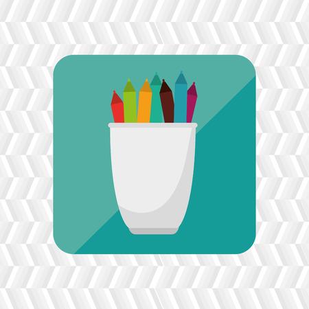sign holder: pencil holders design, vector illustration eps10 graphic