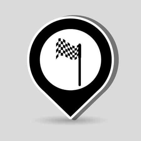 stiker: golf championship design, vector illustration eps10 graphic