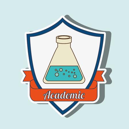 contemplate: academic emblem design, vector illustration graphic Illustration
