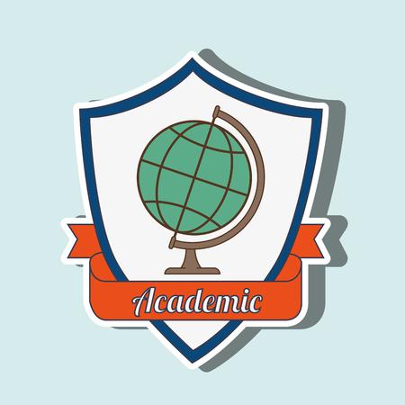 abstract academic: academic emblem design, vector illustration graphic Illustration