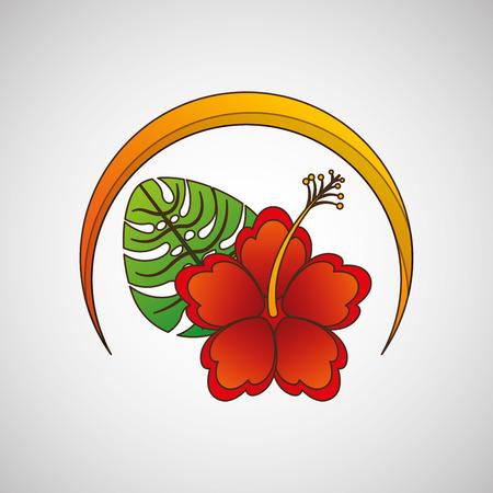 floral decoration: floral decoration design, vector illustration graphic