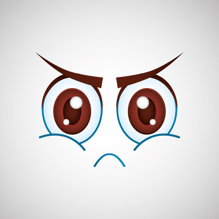 personality character: expressive faces design, vector illustration graphic Illustration