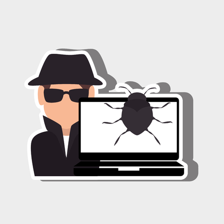 burglar alarm: security system design, vector illustration graphic