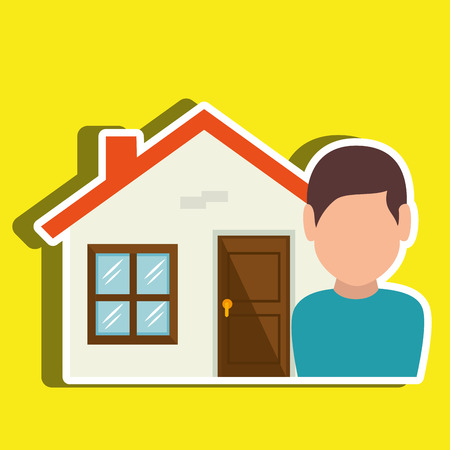 homeowner: Homeowner outside design, vector illustration graphic Illustration