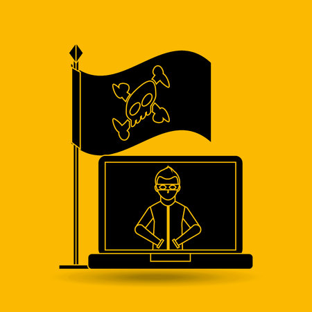 computer attack: software infections design, vector illustration graphic Illustration