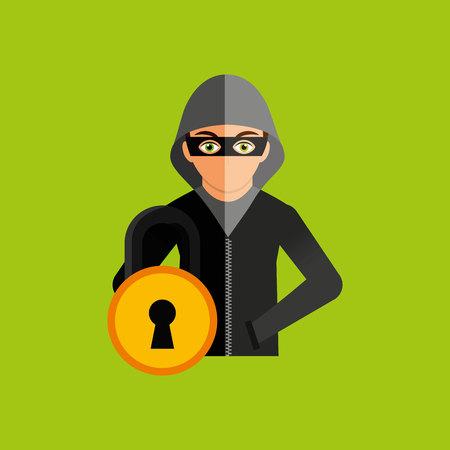 menace: software infections design, vector illustration graphic Illustration