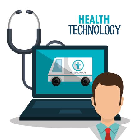 health technology: health technology design, vector illustration eps10 graphic Illustration