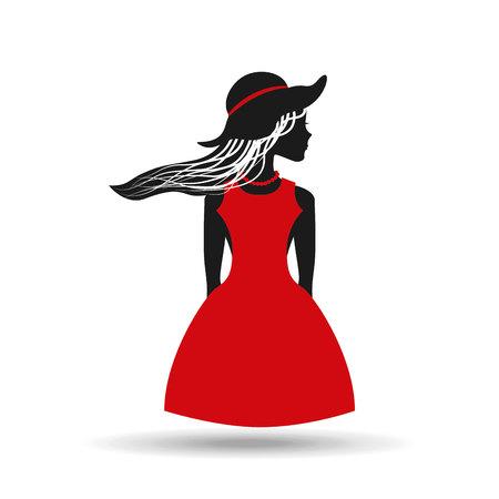 sexy image: feminine fashion design, vector illustration eps10 graphic Illustration