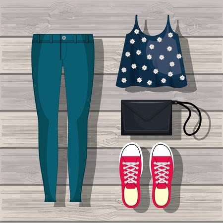 designer bag: feminine fashion design, vector illustration eps10 graphic Illustration
