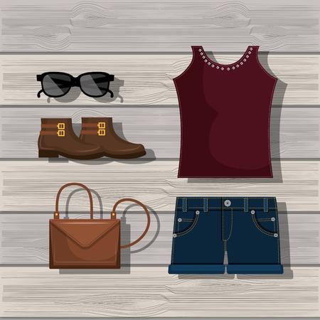fashion design: feminine fashion design, vector illustration eps10 graphic Illustration