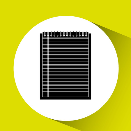 memo pad: notebook paper design, vector illustration eps10 graphic Illustration