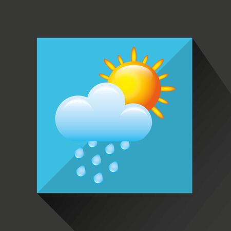 day forecast: weather symbol design, vector illustration eps10 graphic Illustration