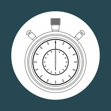 chronometer: chronometer icon design, vector illustration eps10 graphic Illustration