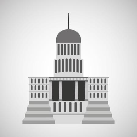 federal election: capitol building design, vector illustration eps10 graphic