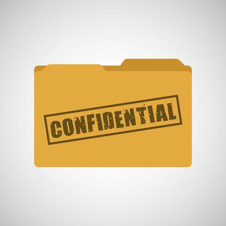 folder icons: confidential folder design, vector illustration eps10 graphic
