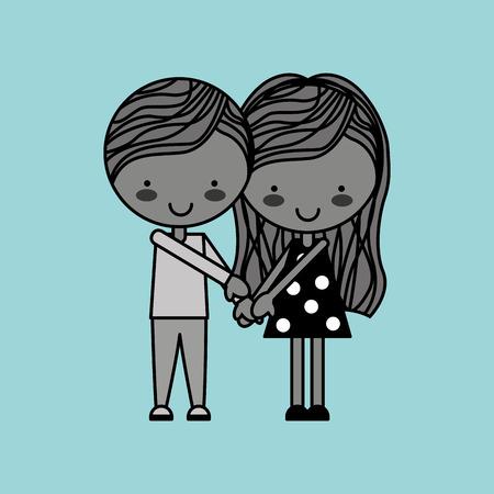 seduce: couple relationships design, vector illustration eps10 graphic Illustration