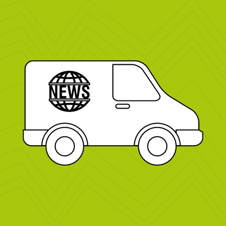 news van: car news design, vector illustration eps10 graphic Illustration