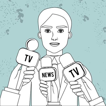 spokesperson: news reporter design, vector illustration eps10 graphic Illustration