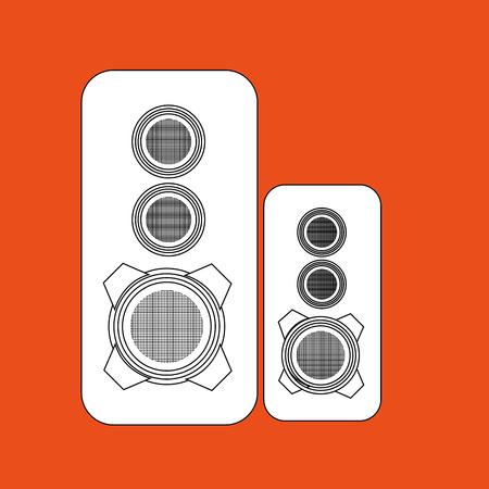 speakers: speakers columns isolated design, vector illustration eps10 graphic