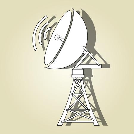 transmitting: transmitting satellite design, vector illustration eps10 graphic