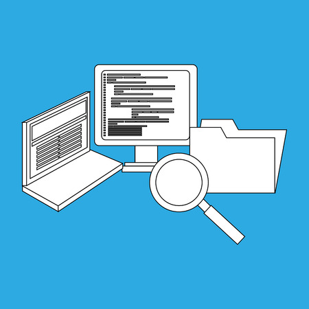computer programming: computer programming design, vector illustration eps10 graphic