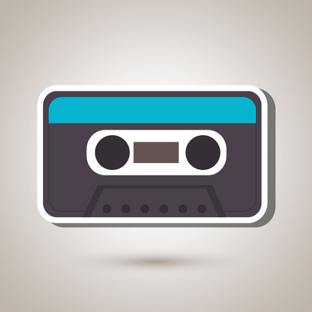 compact cassette: cassette tape design, vector illustration eps10 graphic