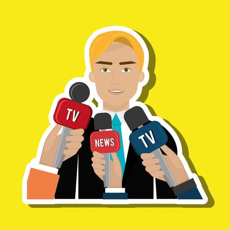 news reporter design, vector illustration eps10 graphic Illustration