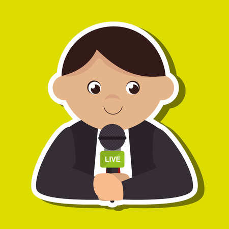reportero: news reporter design, vector illustration eps10 graphic Vectores