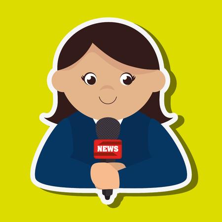 news reporter: news reporter design, vector illustration eps10 graphic Illustration